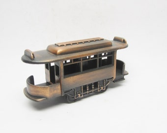 REDUCED Antique Styled Trolley Car Cable Car Old Fashion Miniature Metal Pencil Sharpener Miniature Figural Pencil Sharpener Display