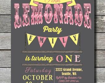 Pink Lemonade Invitation - You Print