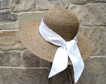 White Hatband, Purse Scarf, Handbag Scarf, Hair Scarf, Hair Wrap, Ponytail Scarf, Skinny Scarf, Gift for Her, Twilly, Ready To Ship