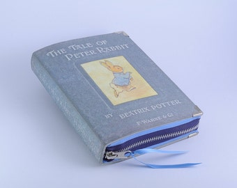 Vintage Peter the Rabbit Beatrix Potter Book cover Clutch