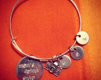 Moms Gonna Snap Expandable Charm Bangle Bracelet