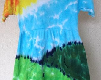5/6T Toddler Sunny Hills Tie Dye Hoodie Dress
