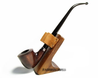 "Fashion Set - Long Tobacco Smoking Pipe ""Lord of The Rings"" of Pear Wood Pipe 9.8'' Churchwarden Fashion Style & Stand"
