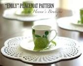 "Crochet Placemat Pattern - ""EMILY"" Placemats - PDF"