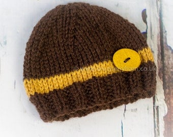 SALE - Newborn Baby Beanie Hat, Photography Prop, Ready to Ship - UK Seller