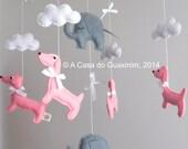 Baby Mobile - Dachshunds and Elephants