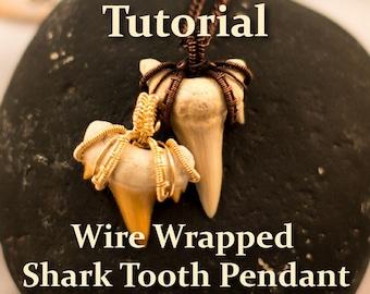 Surfer Shark Tooth Pendant: TUTORIAL