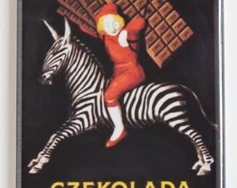 Chocolate Zebra Fridge Magnet