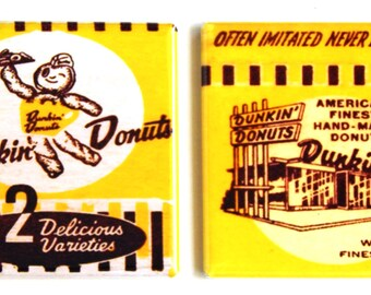 Donuts & Coffee Fridge Magnet Set