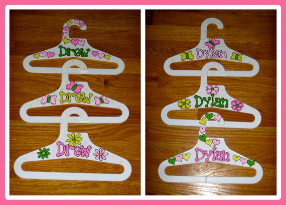 Children's Hangers - Handpainted and Personalized