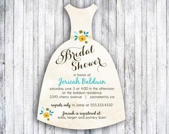 Set of 25 Bridal Shower Die Cut - Vintage Floral