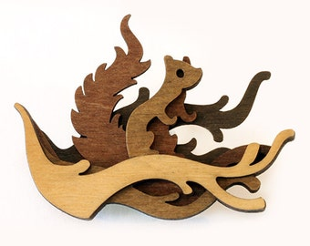 Woodland Brooch: Squirrel
