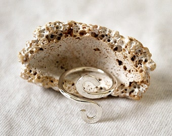 CLEARANCE! S Swirl Sterling Silver Ring - Smooth Finish