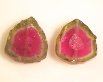 11.5 carats tourmaline slice 11x12 mm
