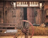 NEW ITEM 8ft x 8ft Vinyl Photography Backdrop / Old Western Barn