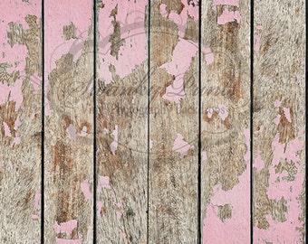 4ft x 3ft Light Pink Peeling Wood / Vinyl Photography Backdrop / Custom Prop
