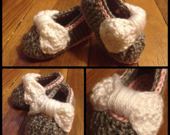 Big Bow Baby Booties