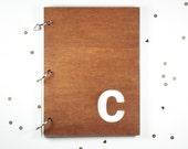 "Custom monogram 6""X8"" journal/ mini album"