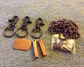 Copper keychain and necklace starter kit for hand stamped jewelry
