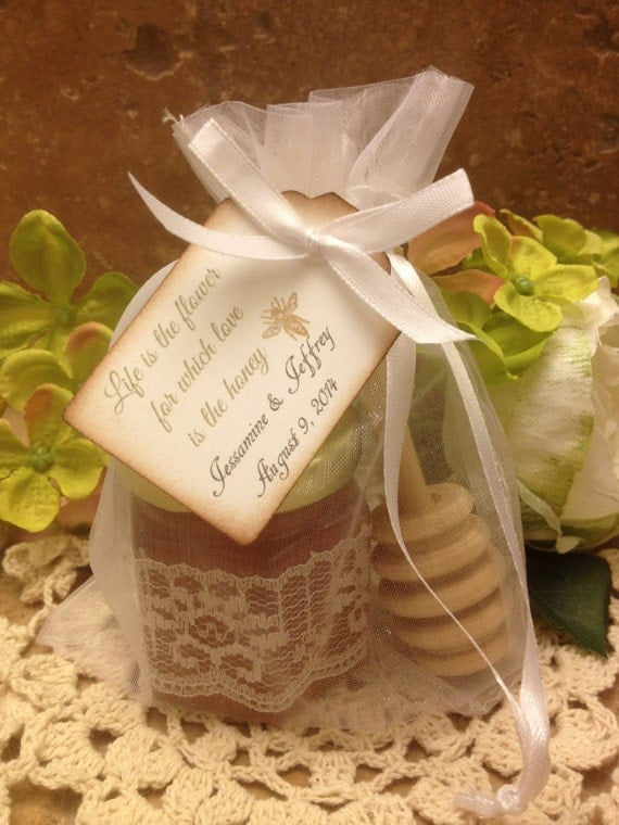 Items similar to 100 qty honey wedding favors on etsy for Honey bee wedding favors
