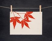 Fall Maple Leaves - Handmade - PRINT