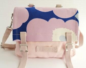Small Handbag Marimekko - Canvas - Poppy Unikko - Pink Flowers