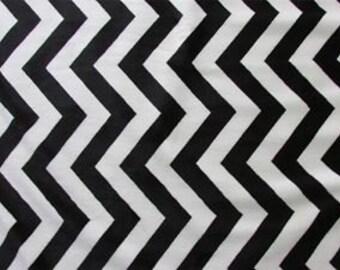 Chevron Minky, Black and Ivory Minky, 1 Yard Fabric
