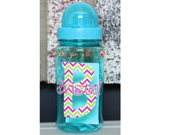 Personalized 15oz Sports Water Bottle - For Kids - Party Favors, Gifts - Fun Colors - Wedding Party
