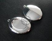 5pcs 13x18mm setting size pendant tray setting bezel vintage brass silver plated oval blank photo locket supplies charm 1122008