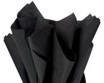 "Black Tissue Paper 24 sheets Black Soild  DIY  Wedding Decor Craft Supplies  20"" X 30"" Gift Wrap Favor Box Tissue DIY Pom Pom Supplies"