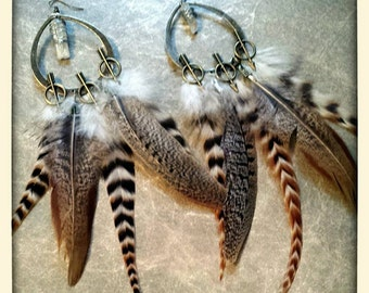 Bohemian Soul feather earrings
