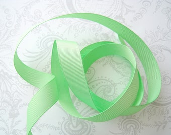 Mint Grosgrain Ribbon 5/8in -- 3 yards -- Pistachio Green -- 16mm
