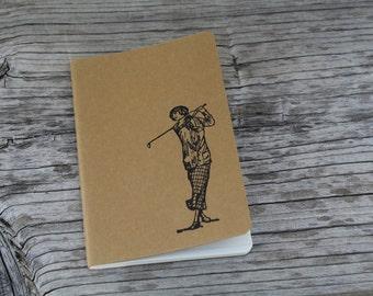 Mini Vintage Femal Golfer Journal