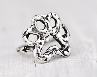 Open Paw Ring - Dog Paw Ring -Handmade Jewelry- Puppy Paw Ring- R338