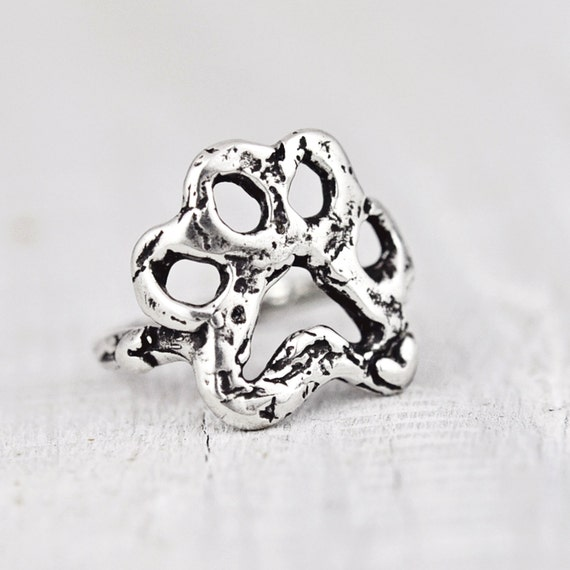Open Paw Ring Dog Paw Ring Handmade Jewelry Puppy Paw