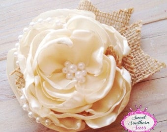 Country Chic Couture Hair Clip