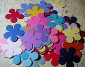 "100 2"" Retro flowers, Assorted colors, Cardstock, Die Cut,Embellishment, Scrapbook, Tags, Weddings"