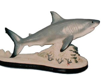 Great White Shark fish on Reef sculpture