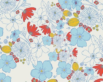 Art Gallery Fabric - Meadow - Leas Bloom- Clearwater - Leah Duncan - Choose Your Cut 1/2 or Full Yard