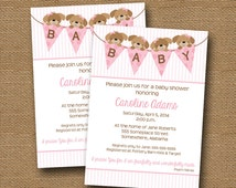 puppy dog baby shower invitation baby girl diy printable pink puppy