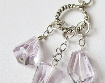 AAA Brazil Pink Amethyst Sterling Silver Necklace
