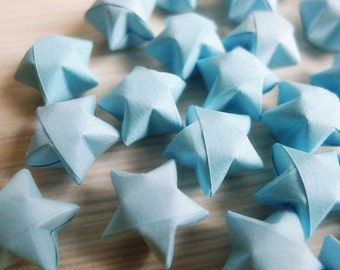Origami Lucky Stars - Light Blue Wishing Stars/Home Decor/Gift Enclosure/Party Supply/Embellishment