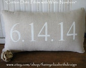 Date Pillow- Date Pillow- Customized Date Pillow- Personalized Pillow- Wedding Gift- Anniversary Gifts- Engagement Gift