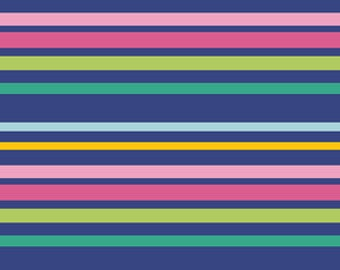 Gleeful Limited Edition - Untangled Ribbons (Stripe Multi) - GFL-386 - Sew Caroline Art Gallery Fabrics - 1/2 yard