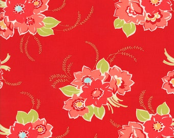 Miss Kate - Blossom in Red - 55090 11 - Bonnie and Camille for Moda - 1/2 yard, Additional Available