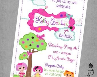 Digital Download Birthday Party Invites - Fun - Girly - Birthday Party Invitations - La La Loopsy Birthday Invitations