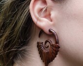 Faked Gauged Wooden FAN Hoops ... LOOKS Like GUAGED.  FrEE ShiPPing!