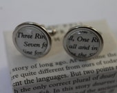 Lord of the RIngs// LOTR // One Ring Speech // Literature Cufflinks