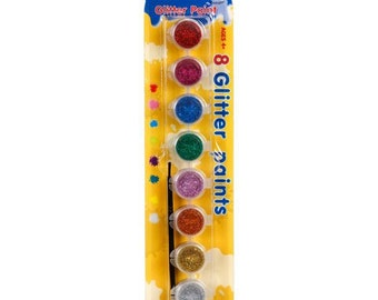 8 Piece Acrylic Glitter Paint Set