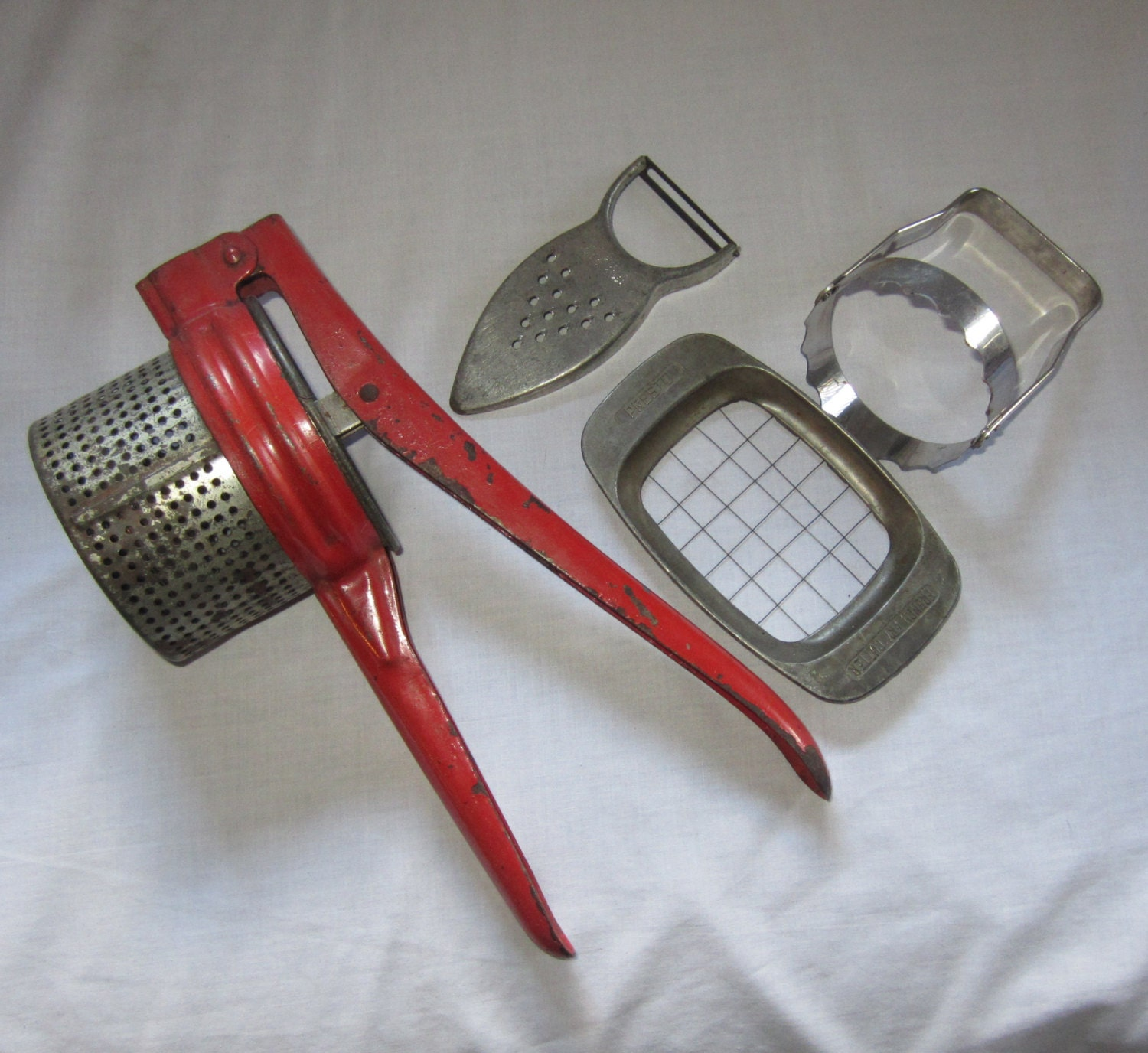 Vintage Kitchen Utensils And Gadgets Instant Collection Potato